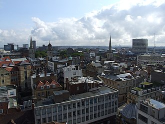 Bristol city centre - Image: Bristol Temple and Redcliffe from the tower of St Stephen (3261563982)