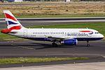 British Airways Airbus A319-131 (G-EUPG) coming in from London Heathrow (LHR - EGLL) @ Düsseldorf (DUS - EDDL).jpg