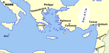 Broad overview of geography relevant to paul of tarsus