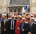 Brochette d'élus tourangeaux à l'inauguration du tram par Cramos.JPG