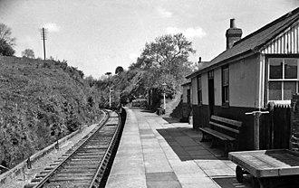 Carmarthen–Aberystwyth line - Bryn Teifi station in 1962