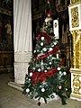 Bucuresti, Romania. Biserica Sfantul Gheorghe Nou. Bradul de Craciun, Decembrie 2017.jpg