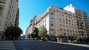 Avenida Alvear - Intersection of Alvear and Callao Avenues.
