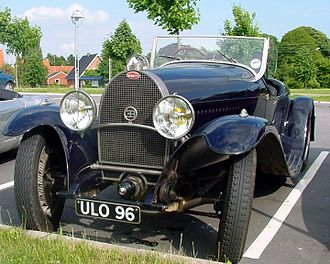 Liège–Rome–Liège - Bugatti Type 49 model winner of the 1st edition of the Marathon.