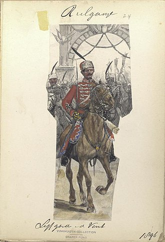 National Guards Unit of Bulgaria - Image: Bulgarian Life Guard Cavalry Squadron, 1896, The Vinkhuijzen collection