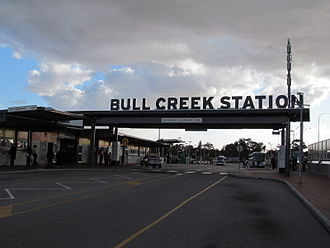 Bull Creek railway station - Bus station in July 2012