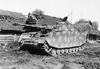 12th Panzer Division (Wehrmacht) - A Panzer IV of the division operating on the Eastern Front in 1944