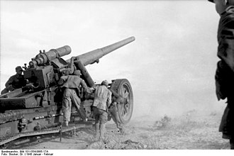 17 cm Kanone 18 - 17 cm Kanone 18 in action in Tunisia
