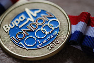 London 10,000 - 2010 race medal