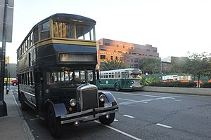 New York Transit Museum - The annual Bus Festival is an occasion to exhibit working historic buses, such as this double-decker