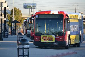 Transportation in Salt Lake City - UTA buses at the Salt Lake City Intermodal Hub (Salt Lake Central station)