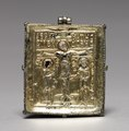 Byzantium, Constantinople, Byzantine period, 11th-12th century - Enkolpion with the Crucifixion (front) and Saints Theodore and George (back - 1972.94 - Cleveland Museum of Art.tif