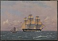 "C.W. Eckersberg - The 84-Gun Danish Warship ""Dronning Marie"" in the Sound - KMS255 - Statens Museum for Kunst.jpg"