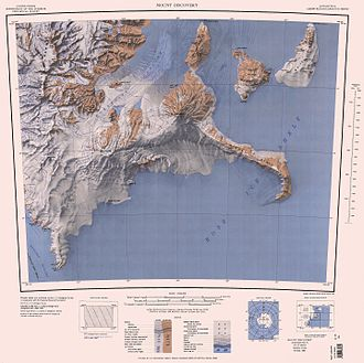 Black Island (Ross Archipelago) - Image: C78192s 1 Ant.Map Mount Discovery