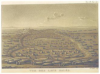 Syvash - Image: CASTELNAU(1827) p 3.162 VUE DES LACS SALES