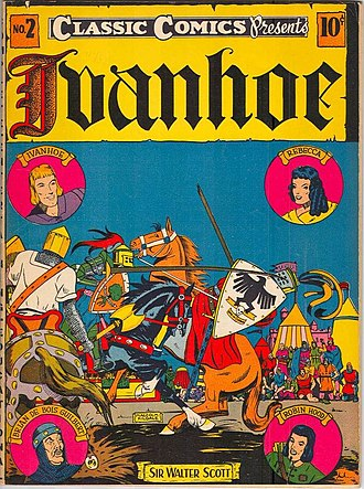 Classics Illustrated - Image: CC No 02 Ivanhoe 2