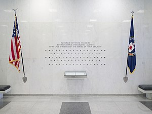CIA Memorial Wall - The Wall with 83 stars in 2004