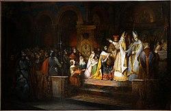 CLaudius Jacquand le couronnement de Charlemagne roi des Lombards 08267.jpg
