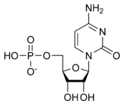 Skeletal formula of cytidine monophosphate as an anion (1- charge)