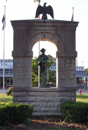 Confederate Monument in Russellville - Image: CSA Memorial Russellville KY