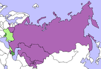 Purple: CSTO bloc in the CISGreen: GUUAM bloc in the CIS.Pink: Other CIS state.