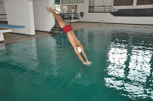 File Cadet Diving Into A Swimming Pool At The Indian Naval Wikimedia Commons