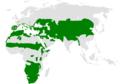 Calandrella distribution map.png