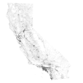 California -- Roads using GIS data.png