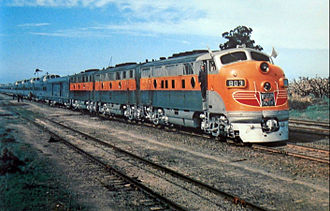 California Zephyr (1949–1970) - The train in Altamont, California, prior to its first run in 1949