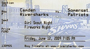 Camden Riversharks - Image: Camden Riversharks for June 12, 2009 Game