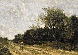 Le cavalier sur la route