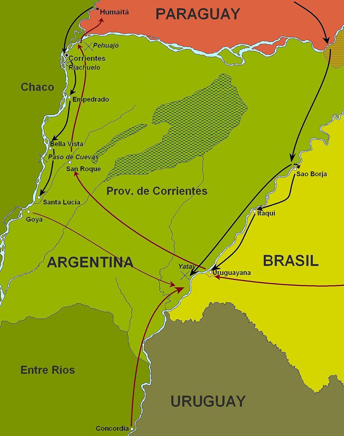 Mercedes San Antonio >> Campanha de Corrientes – Wikipédia, a enciclopédia livre