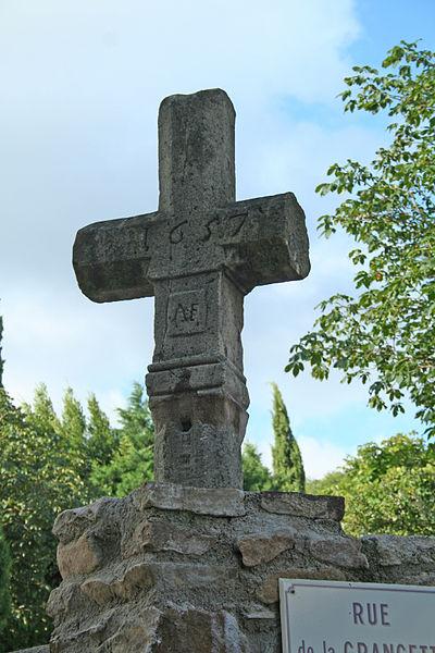 Camplong (Hérault) - croix de 1657.