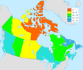 Canada total fertility rate by province 2012.png