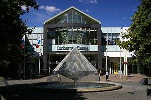 English: Canberra Centre City Walk entrance wi...