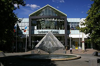 Canberra Centre shopping centre in Canberra, Australian Capital Territory, Australia