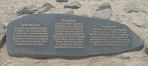 Cape Cross - Cape Cross inscription, modern copy at site