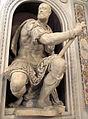 Cappella della compagnia di s. luca, int, statue, v. danti e zanobi lastricati, cosimo I come giosuè 02.JPG