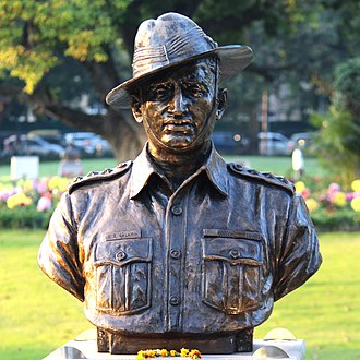 Gurbachan Singh Salaria - G. S. Salaria's statue at Param Yodha Sthal, National War Memorial, New Delhi