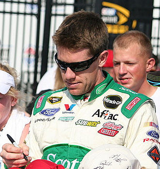2011 Daytona 500 - As Bayne was ineligible for series points, Carl Edwards led the Drivers' Championship standings with 42 points.