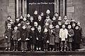 Carling (Moselle), 16 février 1949, baptême des nouvelles cloches et les enfants du village..jpg