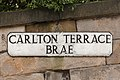 Carlton Terrace Brae street sign, Edinburgh, Scotland, GB, IMG 3614 edit.jpg