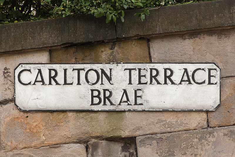 File carlton terrace brae street sign edinburgh scotland for Terrace meaning in english