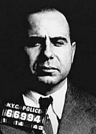 Bonanno crime family - Mugshot of Carmine Galante in 1943