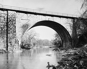 Carrollton Viaduct - Carrollton Viaduct in 1971