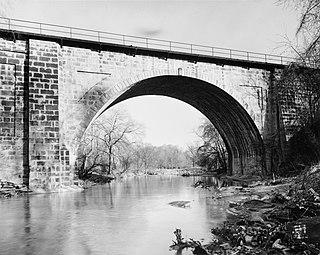 Carrollton Viaduct bridge in United States of America