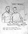 Cartoon 'Check your calculations Jones...' Wellcome L0030832.jpg