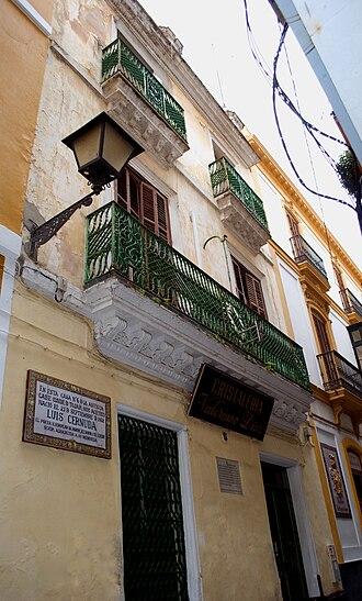 Luis Cernuda - Birthplace of Luis Cernuda in Seville