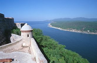 Castillo de San Pedro de la Roca - View over the bay from the fortress
