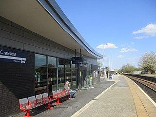Castleford railway station Railway station in West Yorkshire, England